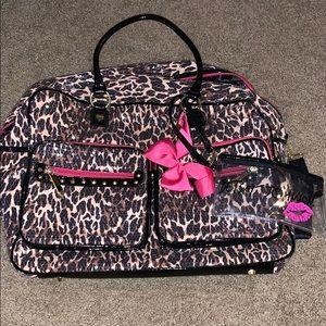 Betsy Johnson Cheetah Duffle Bag